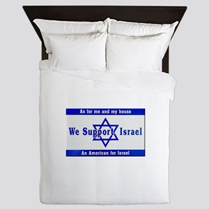 We Support Israel Queen Duvet